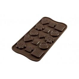 Silikomart 3D Silikonform Choco Botton