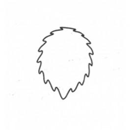 Fine Cut Aussteller Metall - Rose Leaf 45mm