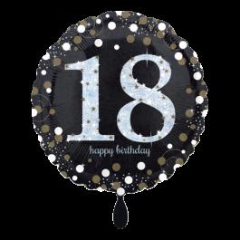 Ballon Sparkling Birthday 18 inkl. Helium