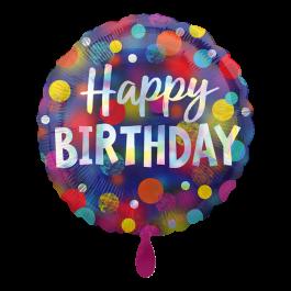 Ballon Iridescent Party Dots inkl. Helium