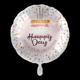 Ballon Happy Birtday Cake inkl. Helium