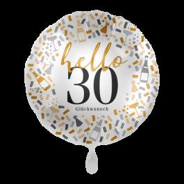 Ballon  Hello 30 inkl. Helium