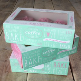 FunCakes Cupcake Box 3er Set - Quotes- 24x16cm