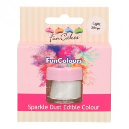 FunCakes Edible FunColours Sparkle Dust - Light Silver