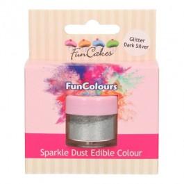FunCakes Edible FunColours Sparkle Dust - Glitter DarkSilver