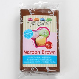 FunCakes Rollfondant - Maroon Brown 250g