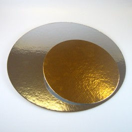 FunCakes Tortenunterlage rund gold/silber 3er Pack - Ø 35cm