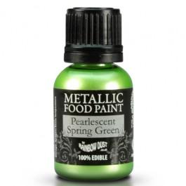Rainbow Dust Metallic Food Paint Spring Green 25ml