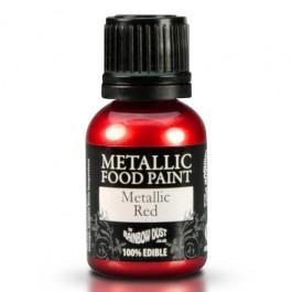 Rainbow Dust Metallic Food Paint Red 25ml