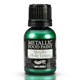 Rainbow Dust Metallic Food Paint Holly Green 25ml