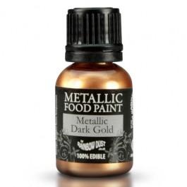 Rainbow Dust Metallic Food Paint Dark Gold 25ml