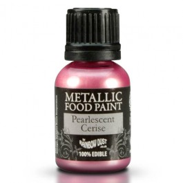 Rainbow Dust Metallic Food Paint Pearlescent Cerise 25ml