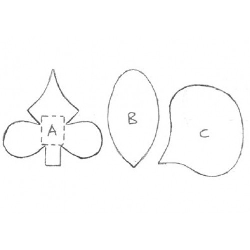 Fine Cut Aussteller Metall - Moth Orchid Set klein 3tlg.