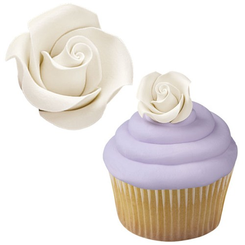 Wilton Icing Rosen Medium White 8 Stück