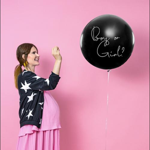 Riesenballon Ø 1m Boy or Girl rosa inkl. Helium