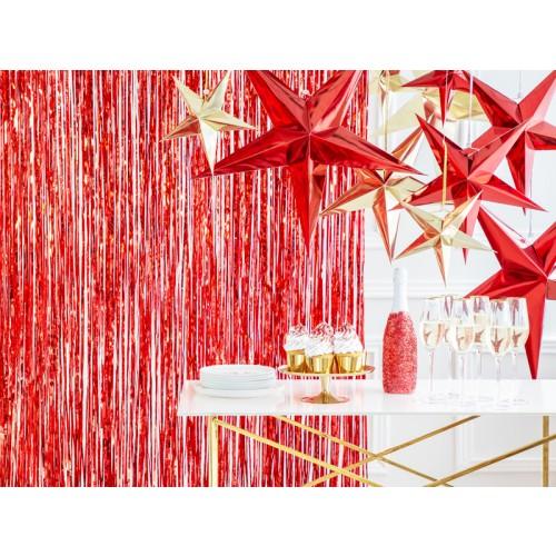 Glittervorhang - 2,5m - Rot