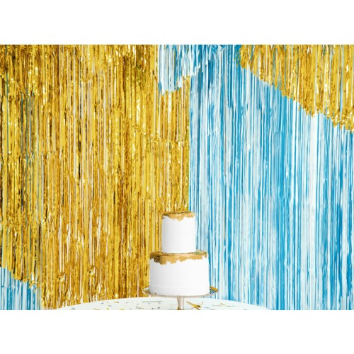 Glittervorhang - 2,5m - Gold glänzend