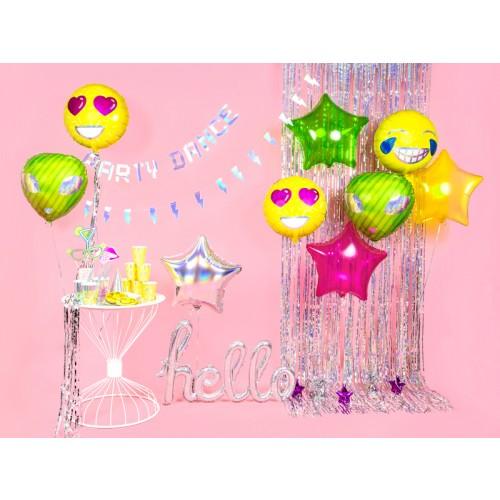 Ballon Emoji Love inkl. Helium
