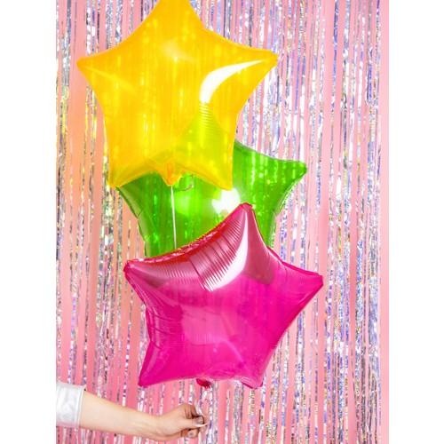 Folienballon Stern 48cm Pink transparent inkl. Helium