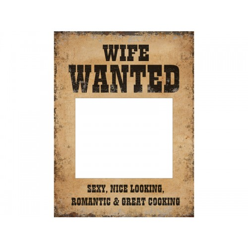 Photobooth Set - Husband Wanted and Wife Wanted