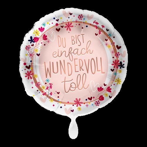 Ballon Du bist einfach wundervoll toll inkl. Helium