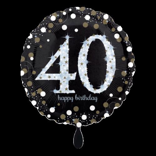 Ballon Sparkling Birthday 40 inkl. Helium