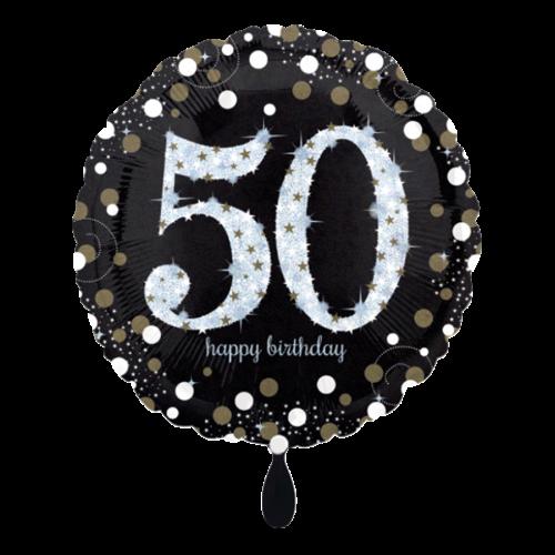 Ballon Sparkling Birthday 50 inkl. Helium
