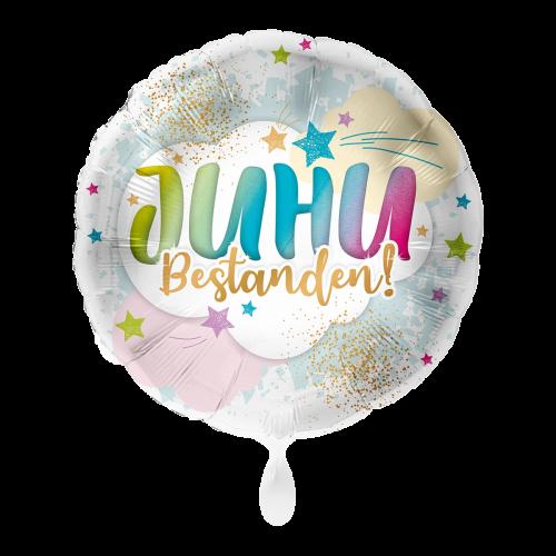 Ballon JUHU Bestanden! inkl. Helium