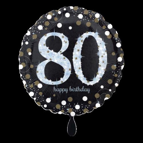 Ballon Sparkling Birthday 80 inkl. Helium