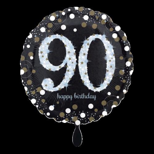Ballon Sparkling Birthday 90 inkl. Helium
