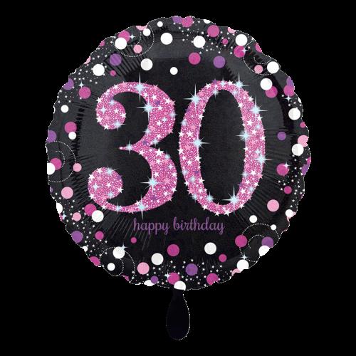 Ballon Pink Celebration 30 inkl. Helium