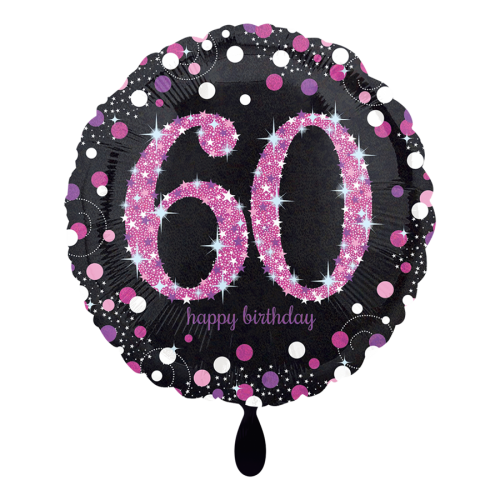 Ballon Pink Celebration 60 inkl. Helium