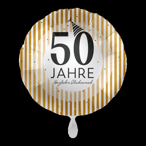 Ballon 50 Jahre Golden Stripes inkl. Helium