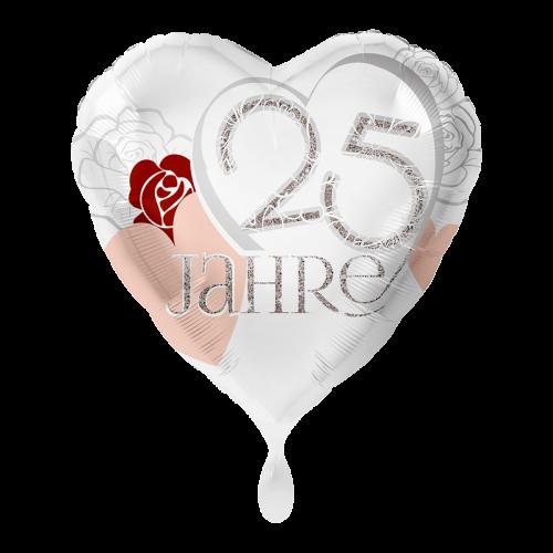 Ballon Silberhochzeit inkl. Helium