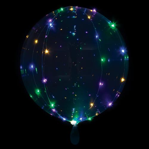 Ballon rund klar mit Lichterkette