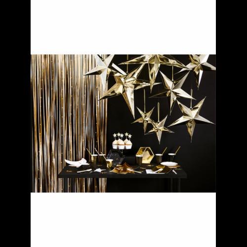 Glittervorhang - 2,5m - Gold