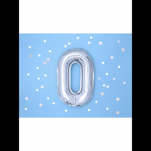 Ballon XS Zahl 0 - Silber