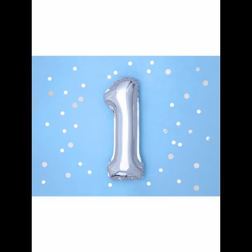 Ballon XS Zahl 1 - Silber
