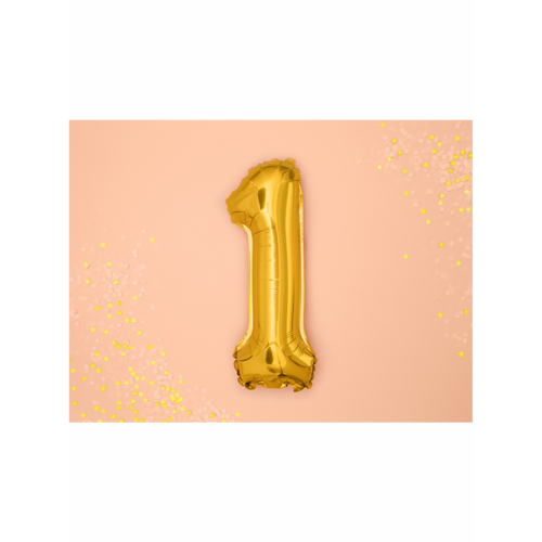 Ballon XS Zahl 1 - Gold