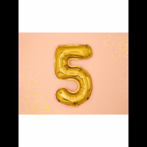 Ballon XS Zahl 5 - Gold