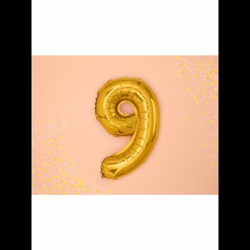 Ballon XS Zahl 9 - Gold