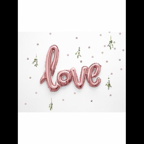 Ballon - Schriftzug Love rosegold