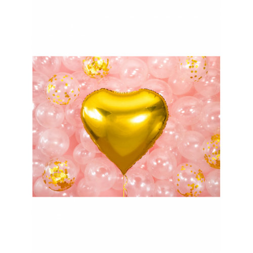 Folienballon Herz 61cm Gold inkl. Helium