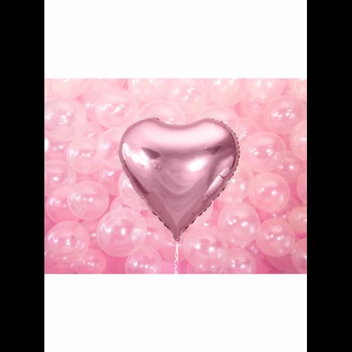 Folienballon Herz 61cm Hellrosa inkl. Helium