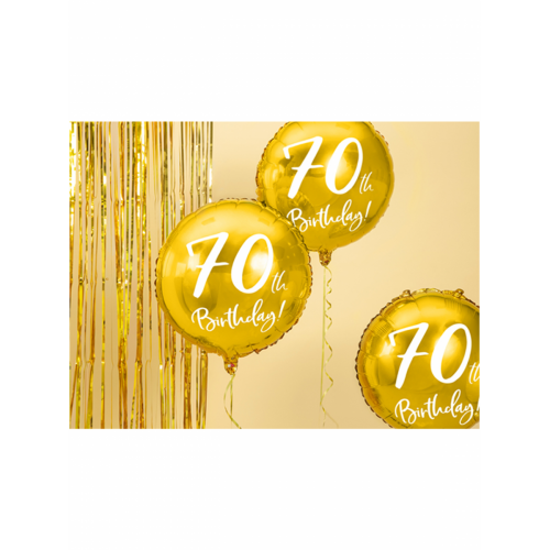 Ballon 70th Birthday Gold inkl. Helium