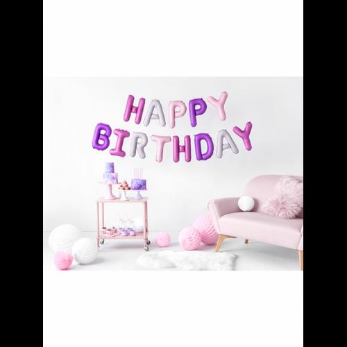Ballon - Schriftzug Happy Birthday trendy