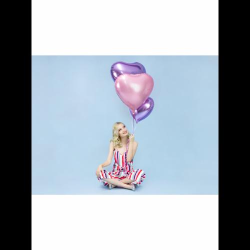 Folienballon Herz 45cm Helllila inkl. Helium