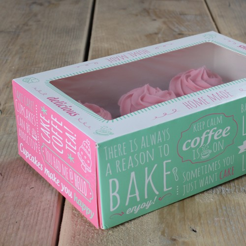 FunCakes Cupcake Box 3er Set - Quotes- 24x16cm