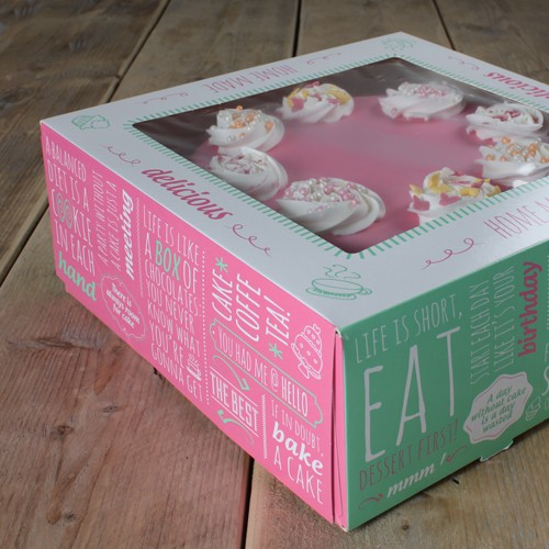 FunCakes Cake Box 2er Set - Quotes-  32x32x11.5cm