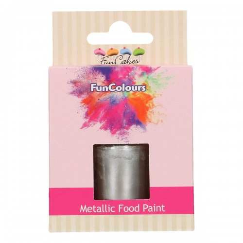 FunCakes FunColours Metallic Food Paint Dark Silver 30ml